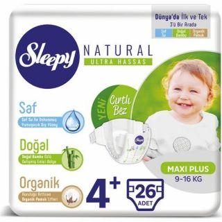 SLEEPY NATURAL MAXI PLUS 4+ 26LI