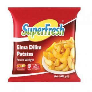 SUPERFRESH ELMA DİLİM PATATES 1000 GR