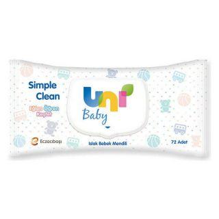 UNİ BABY ISLAK MENDİL SİMPLE CLEAN 72Lİ