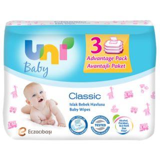 UNI BABY ISLAK MENDIL KLASIK 56LI 3LU
